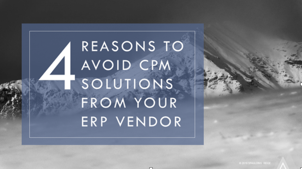 Four Reasons to Avoid CPM Solutions